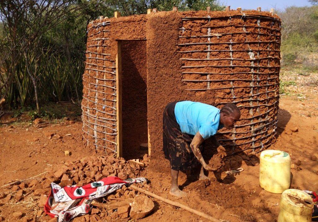 Mud hut construction