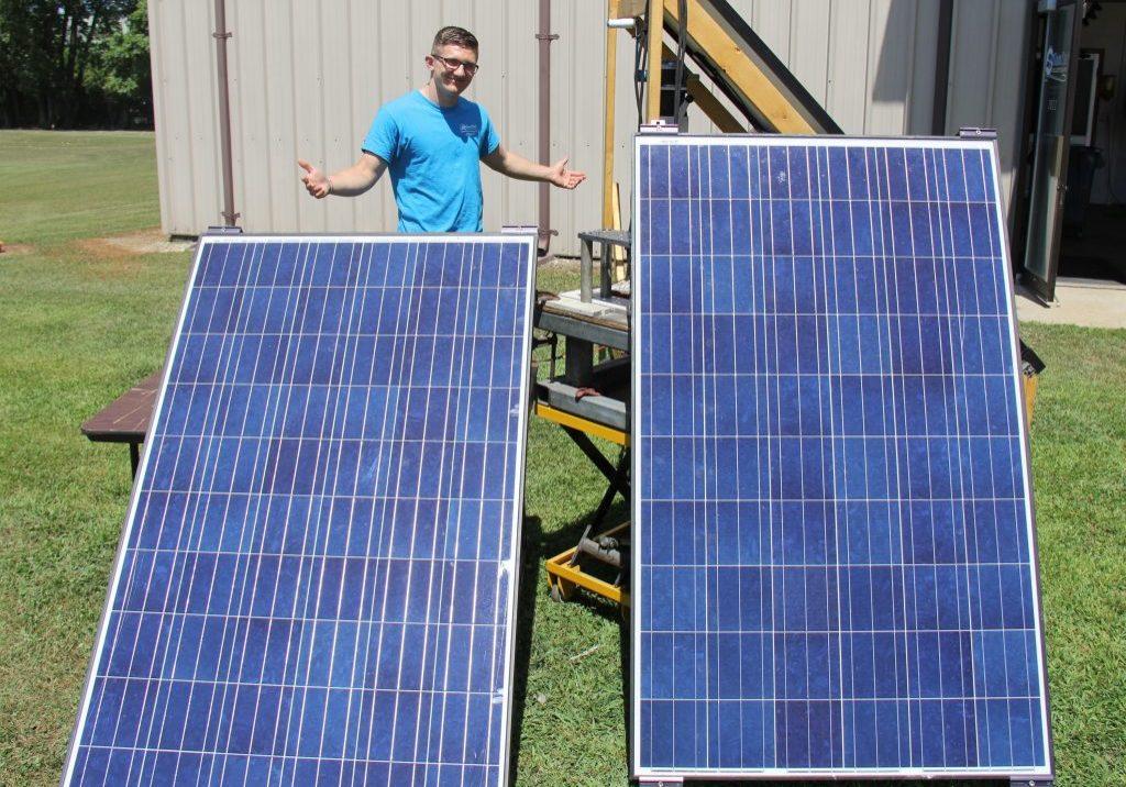 Noah Peternel With Solar Panels
